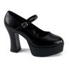 MARYJANE-50 Black Faux Leather